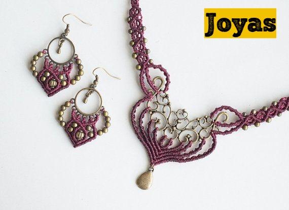 macrame joyas